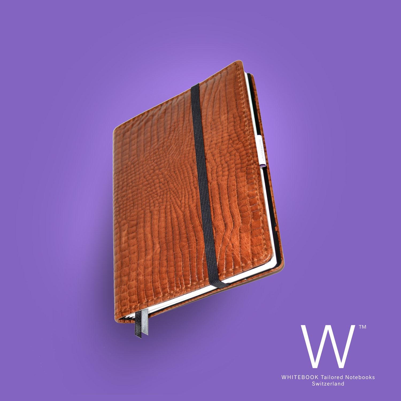 Whitebook Premium, P043w, Croco embossed, brown