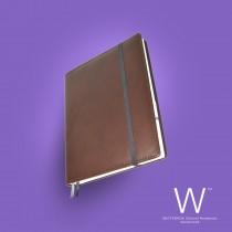 Whitebook Premium, P004w, Deer nappa leather, Brown