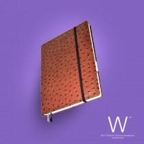 Whitebook Premium, P029w, Ostrich embossed, Brown