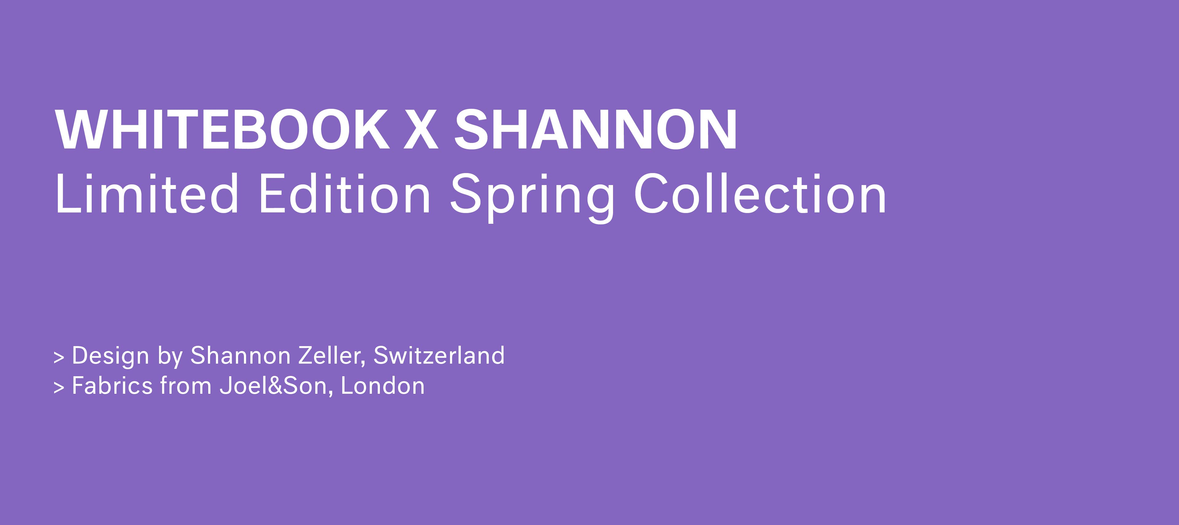 Whitebook X Shannon - Spring Collection